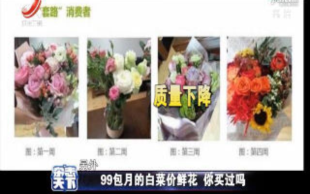 99包月的白菜价鲜花 你买过吗