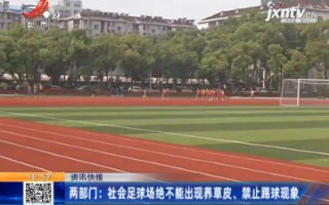 两部门:社会足球场绝不能出现养草皮、禁止踢球现象