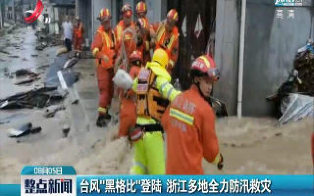 """台风""""黑格比""""登陆 浙江多地全力防汛救灾"""