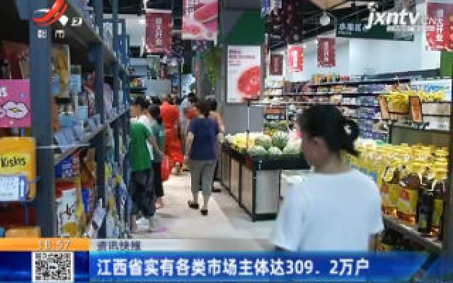 江西省实有各类市场主体达309.2万户