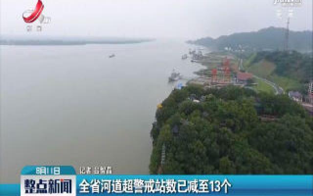 江西省河道超警戒站数已减至13个