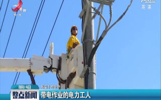 【高温下的坚守】带电作业的电力工人