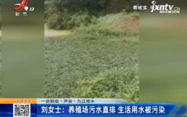【一追到底·声音】九江修水·刘女士:养殖场污水直排 生活用水被污染