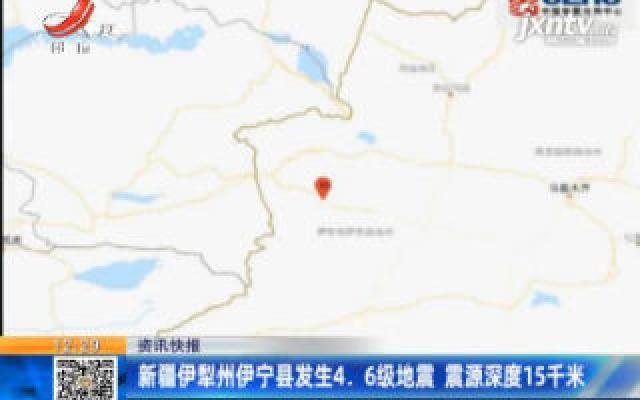 新疆伊犁州伊宁县发生4.6级地震 震源深度15千米