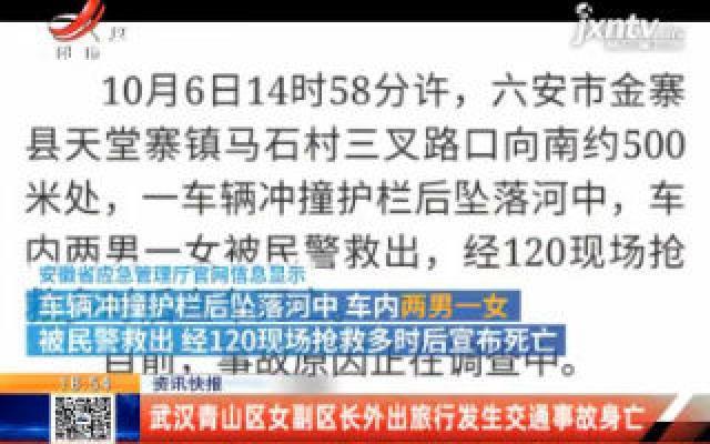 武汉青山区女副区长外出旅行发生交通事故身亡