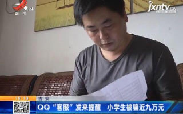 """吉安:QQ""""客服""""发来提醒 小学生被骗近九万元"""