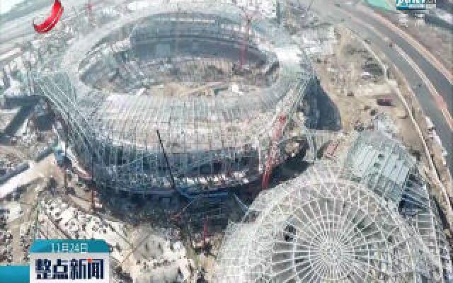 第三届亚青会场馆建设项目完成总工程量65%