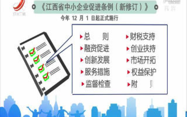 《江西省中小企业促进条例》12月1日起正式施行