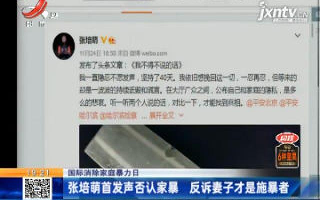 【国际消除家庭暴力日】张培萌首发声否认家暴 反诉妻子才是施暴者