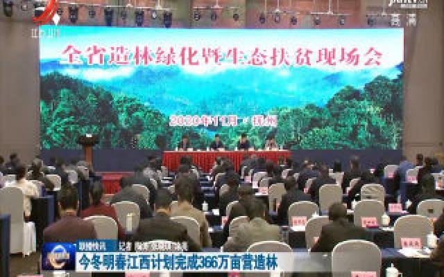 今冬明春江西计划完成366万亩营造林